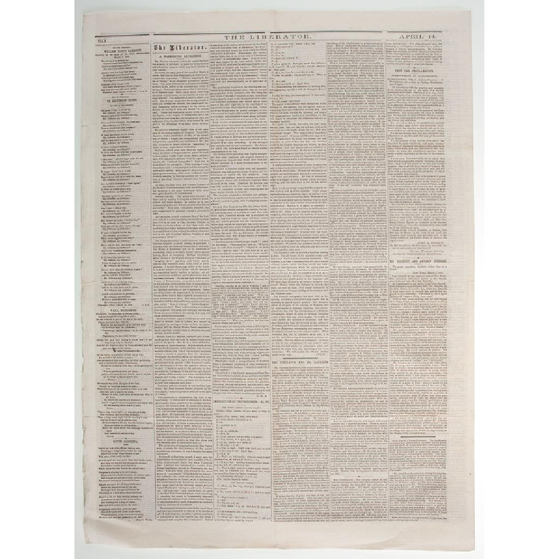 Anti-Slavery Newspaper, Liberator, Covering Surrender - 2