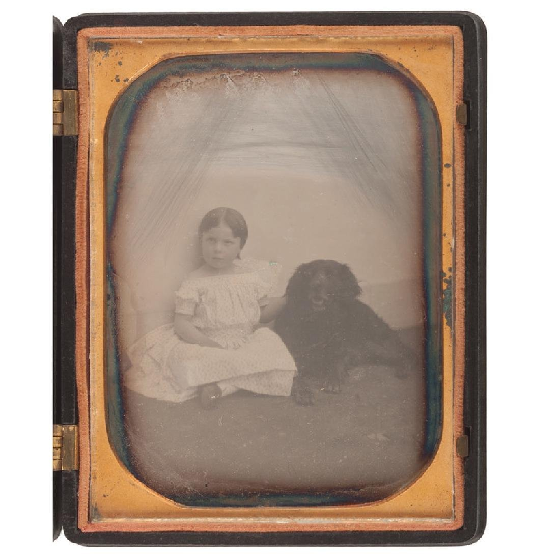 Charming Quarter Plate Daguerreotype of a Girl and her