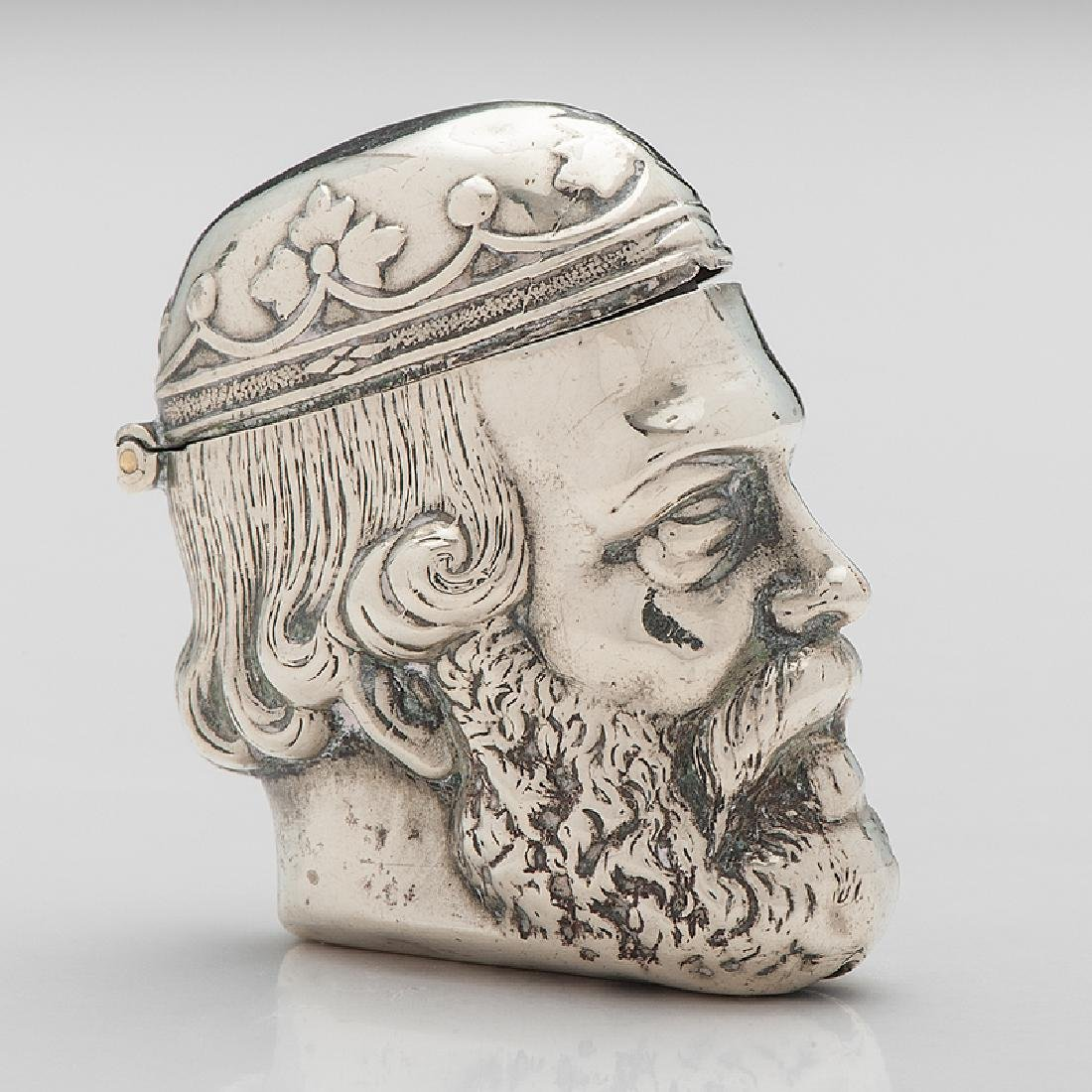 Silverplated Figural Match Safe, Richard the Lionheart