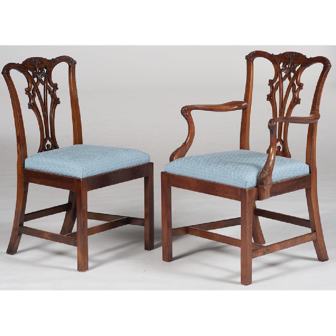 Twelve George III Chippendale Chairs - 2