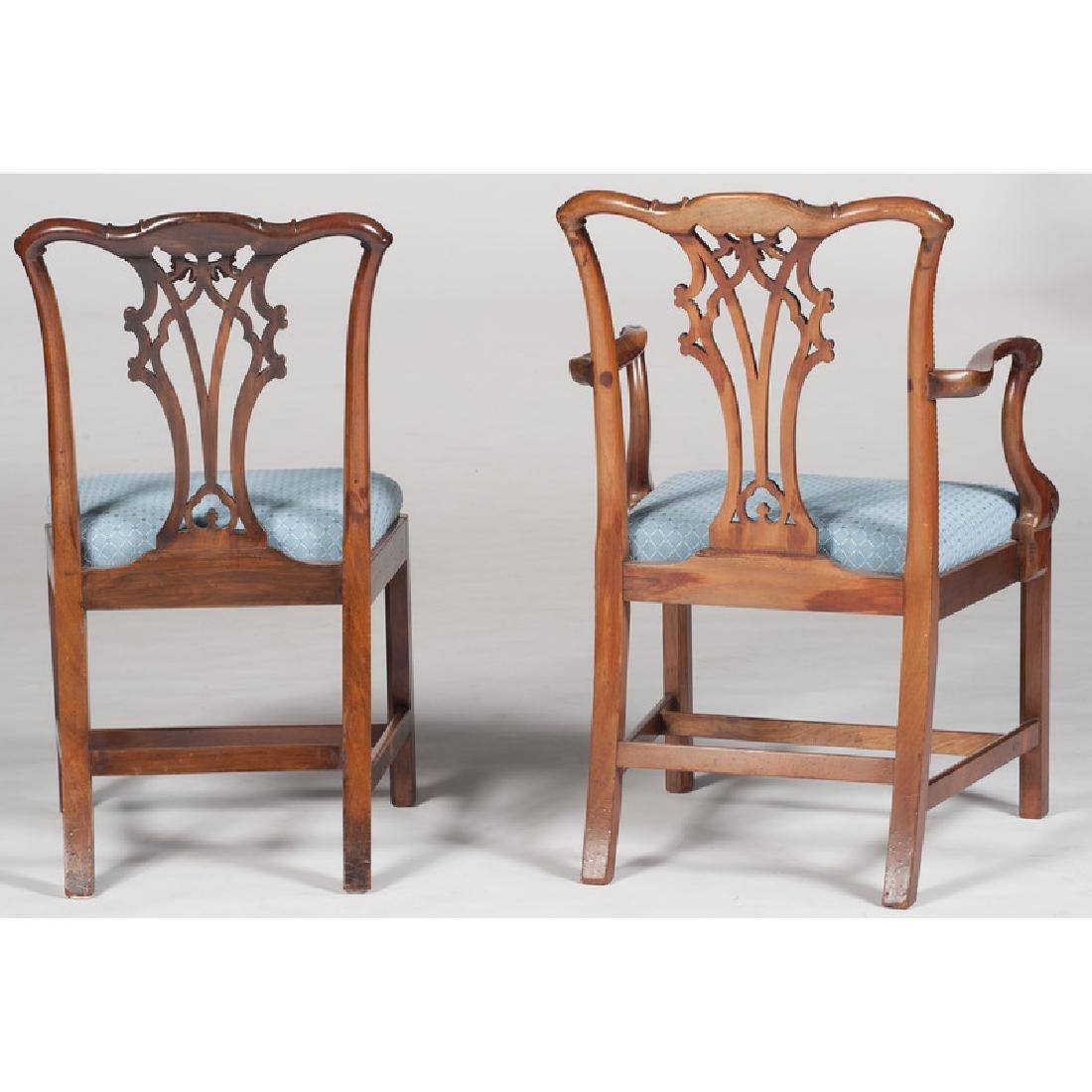 Twelve George III Chippendale Chairs - 4