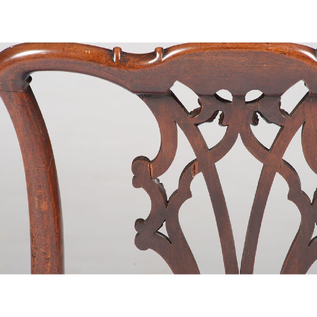 Twelve George III Chippendale Chairs - 5