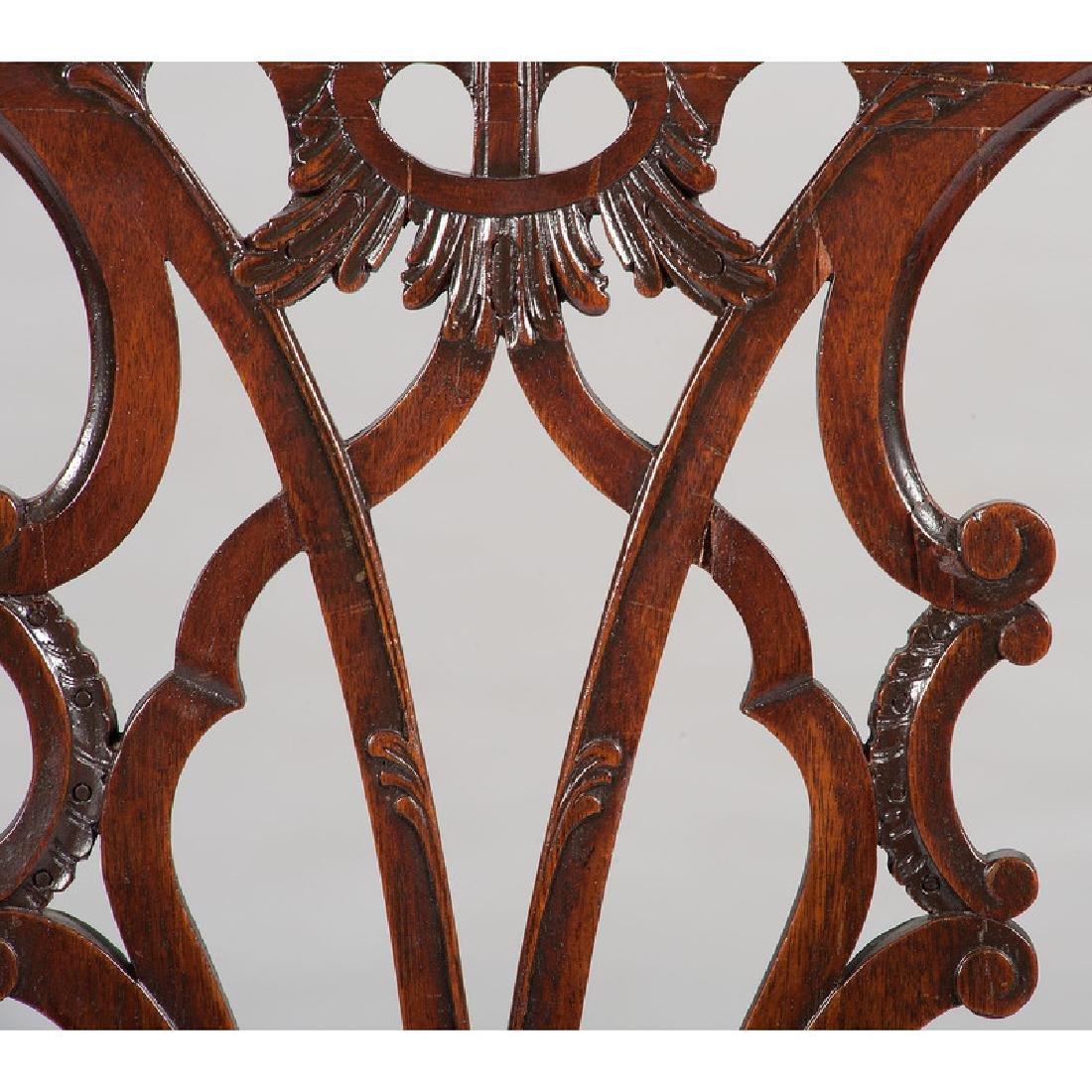 Twelve George III Chippendale Chairs - 6