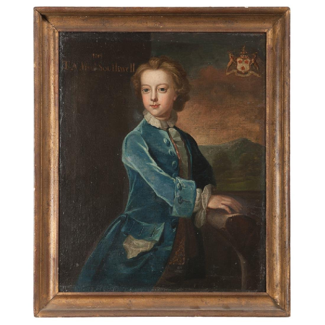 Irish School, 18th century, Portrait of Thomas