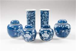 Chinese Blue and White Porcelain Ginger Jars, Plus