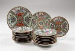 Chinese Export Rose Medallion Plates and Bowls