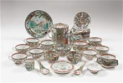 Chinese Export Rose Medallion Tea Service Plus