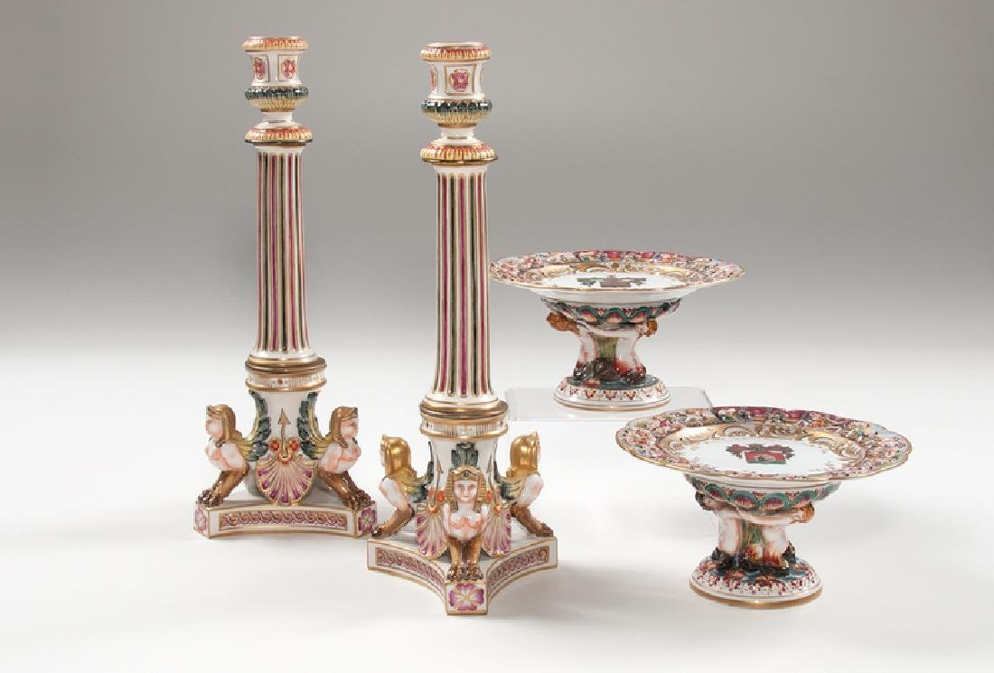 Capodimonte Compotes and Candlesticks