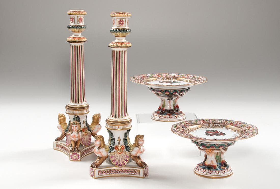 Capodimonte Compotes and Candlesticks - 2