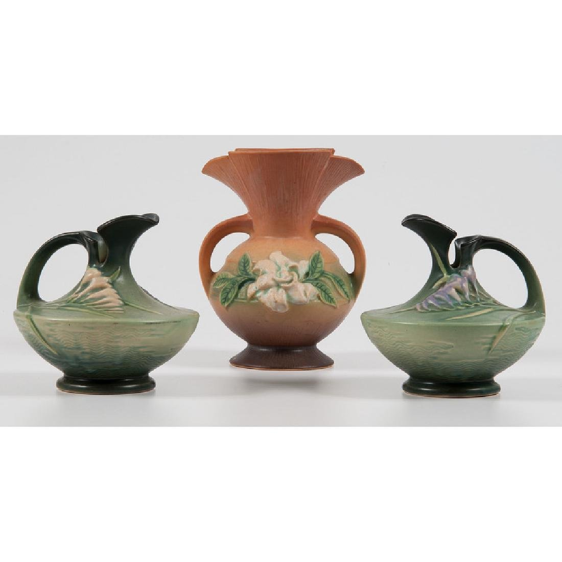 Roseville Pottery Pitchers and Vase