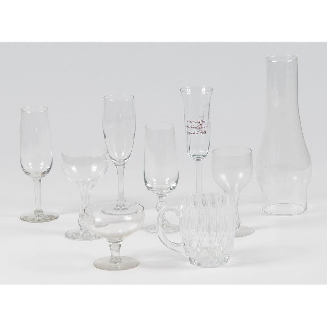Assorted Glass Stemware and Mugs, PLUS - 2