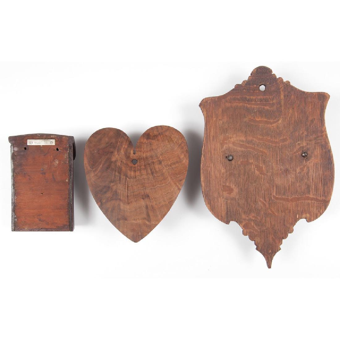 Three Wooden Match Holders - 2