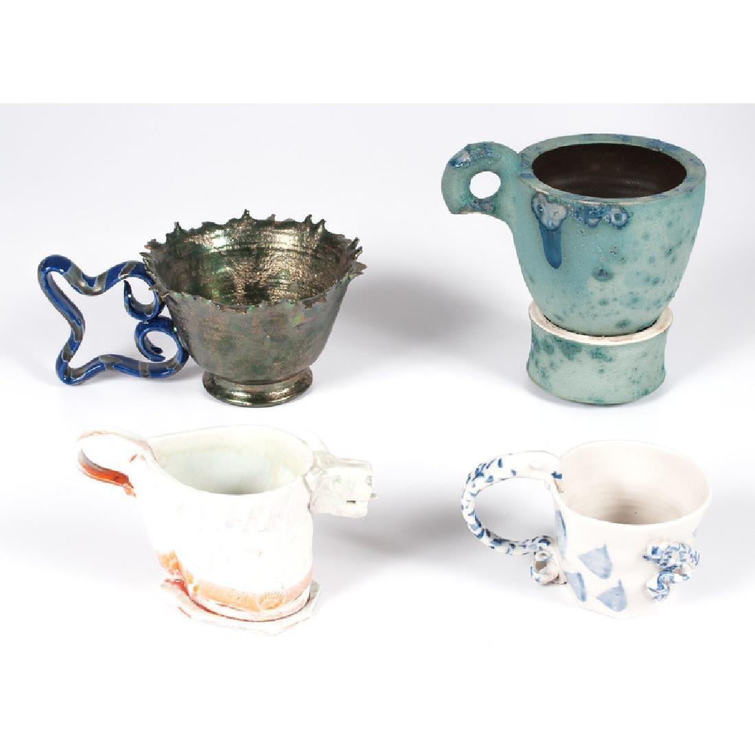 Four Contemporary Ceramic Cups