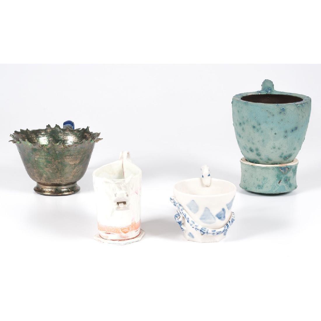 Four Contemporary Ceramic Cups - 2