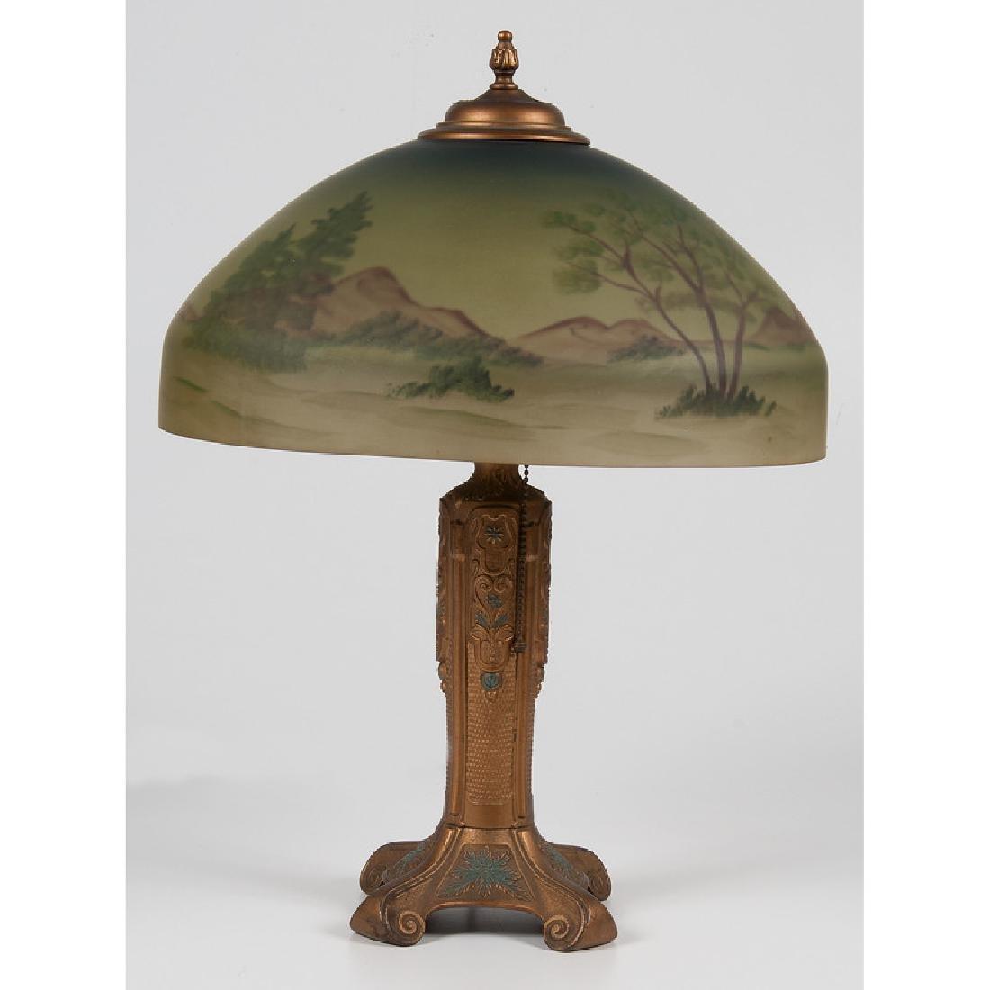 Bryant Reverse-Painted Desk Lamp