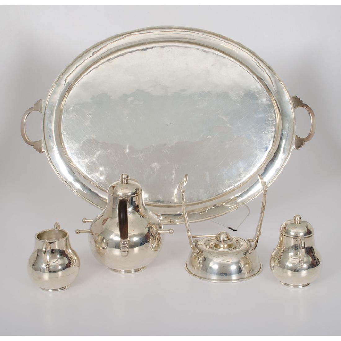Mexican Sterling Tea Service - 2