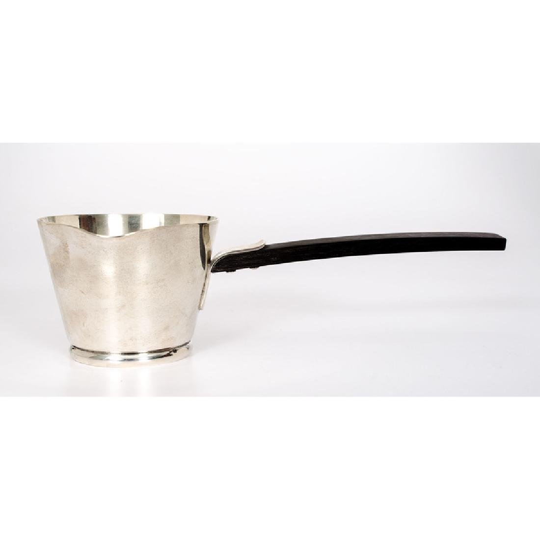 Allan Adler  Sterling and Ebony Sauce Server,  Town