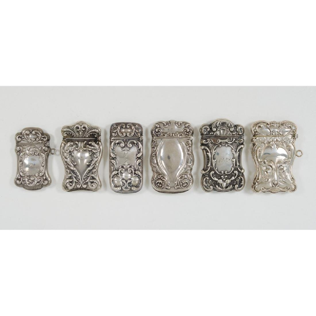 Victorian Sterling Match Safes - 3