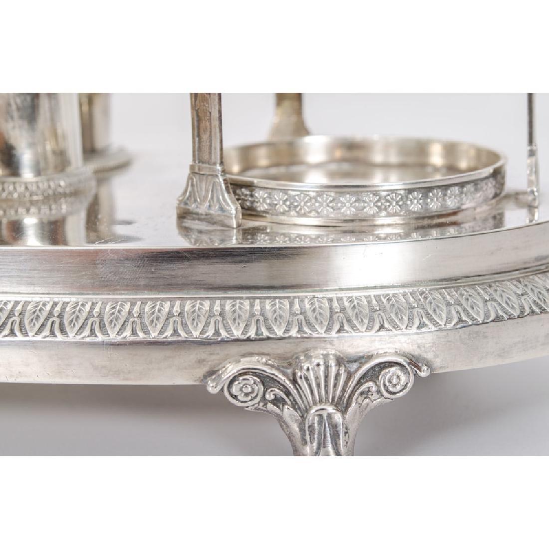 French First Standard Silver Cruet Stand - 3