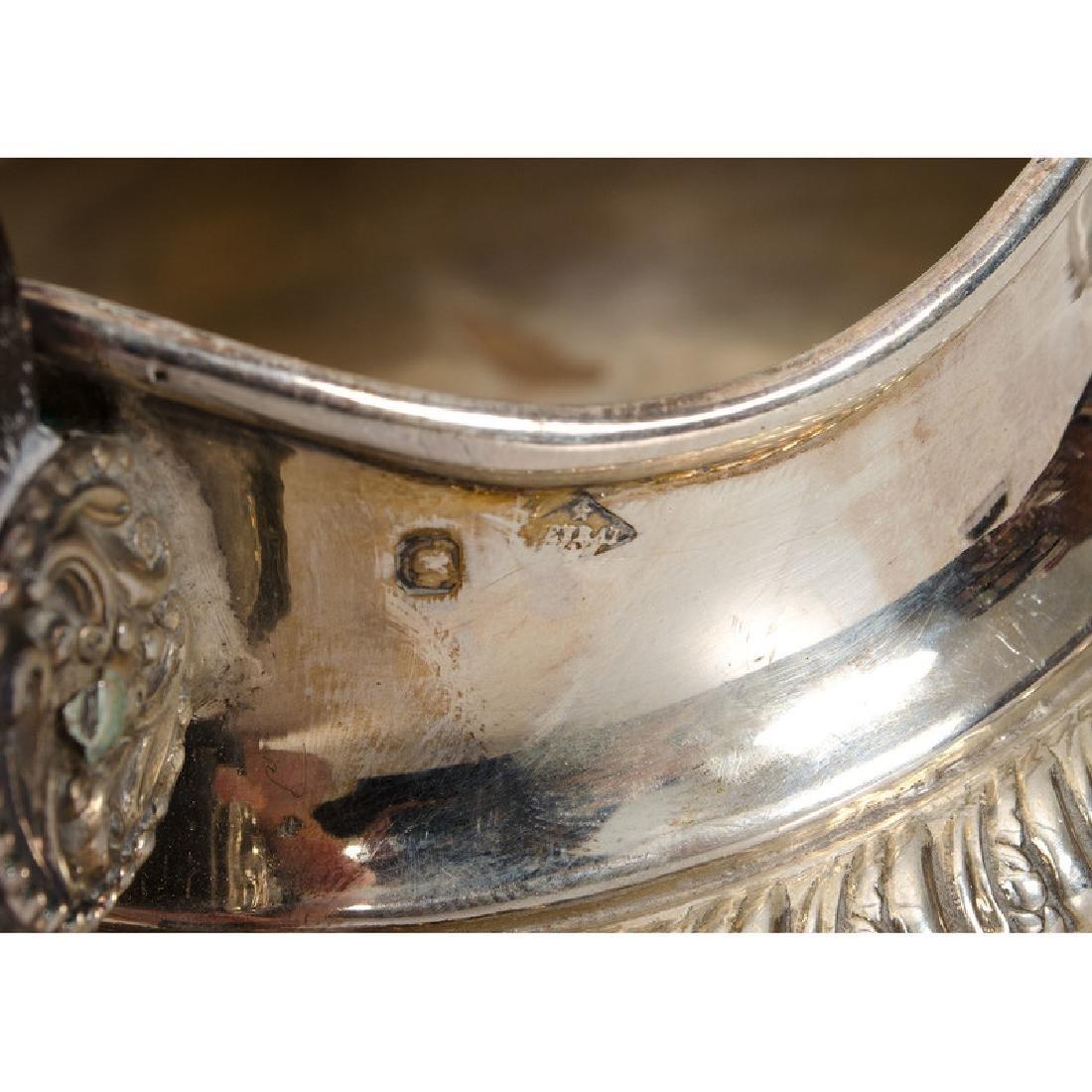 European Silver Beakers, Creamer and Open Salt - 4