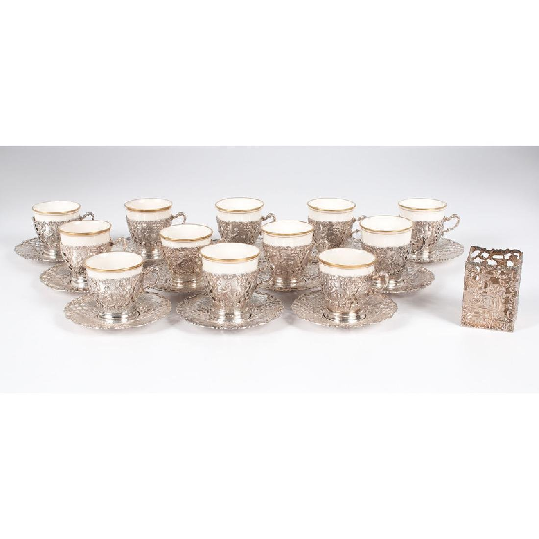 German .800 Silver &  Wyler  Demitasse Cups and
