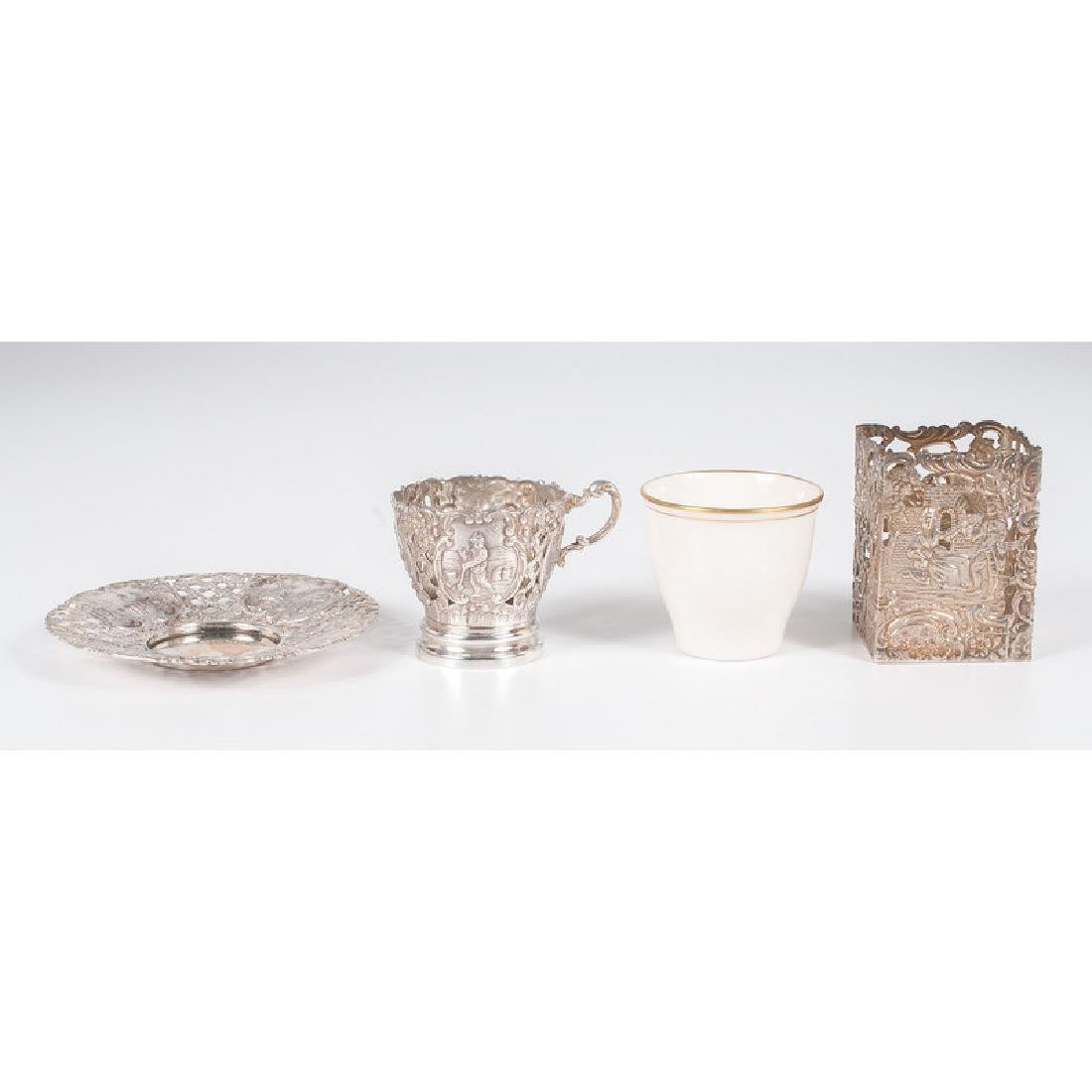 German .800 Silver &  Wyler  Demitasse Cups and - 2