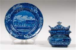 Clews Staffordshire Landing of Gen. Lafayette Plate and