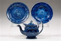 Staffordshire Dark Blue Dishes