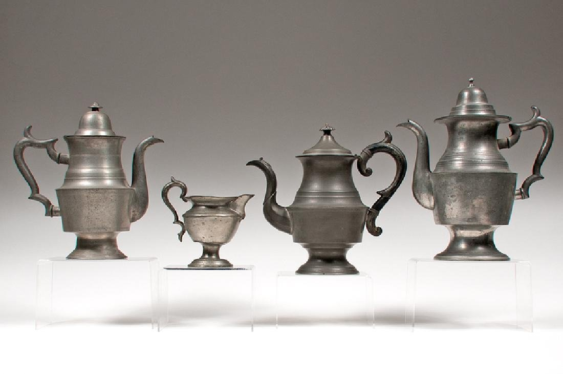 American Pewter Teapots and Pitchers, Plus - 3