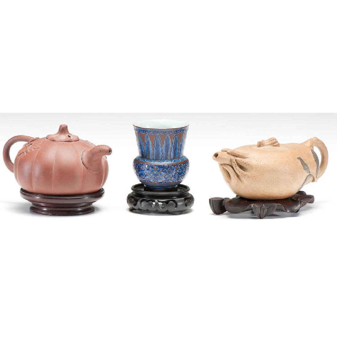 Yixing Teapots and Beaker