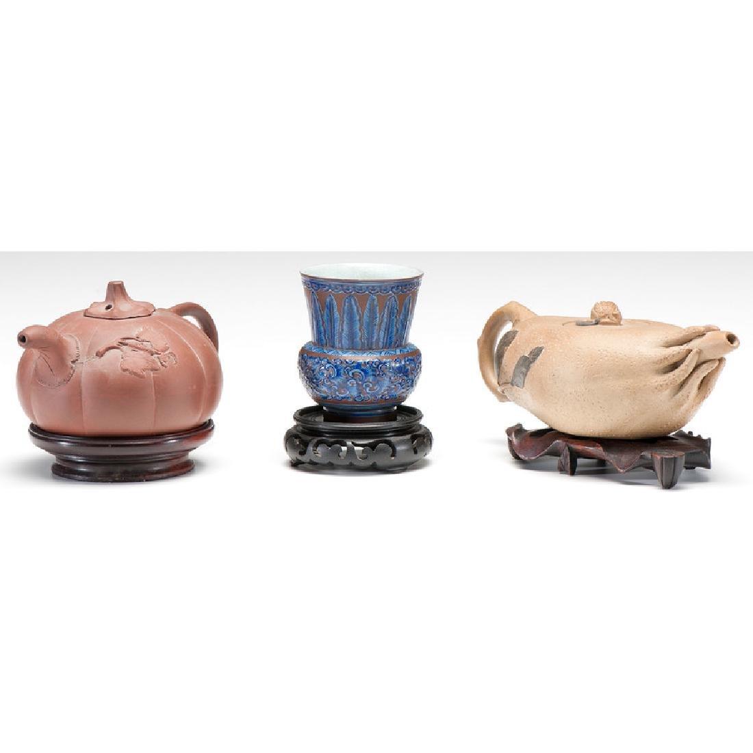Yixing Teapots and Beaker - 2