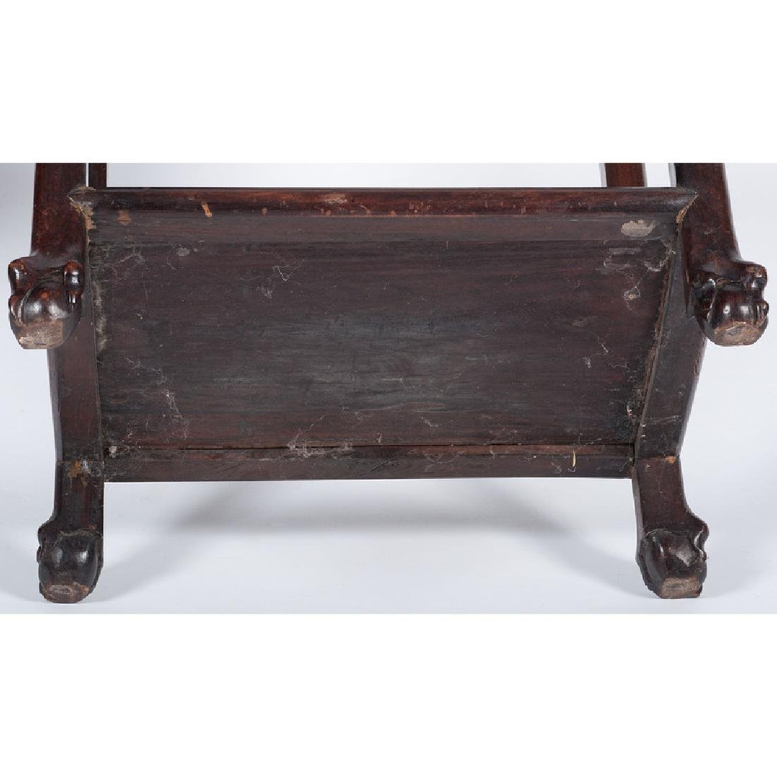 Chinese Carved Tea Table with Marble Top - 5
