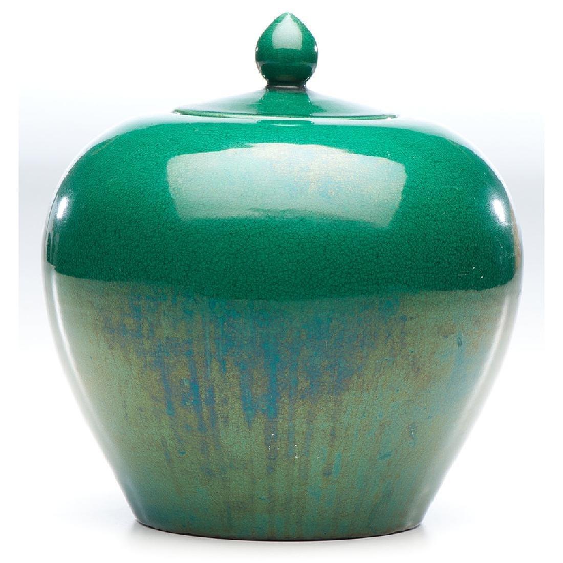 Chinese Apple Green Ginger Jar