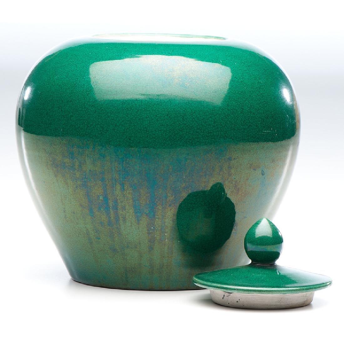 Chinese Apple Green Ginger Jar - 2