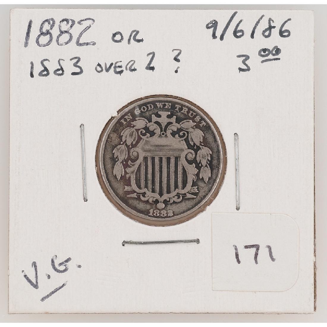 United States Shield Nickel 1883