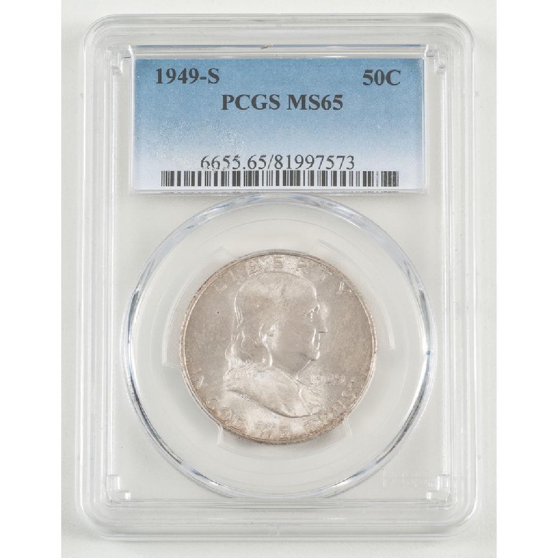 United States Franklin Half Dollar 1949-S, PCGS MS65