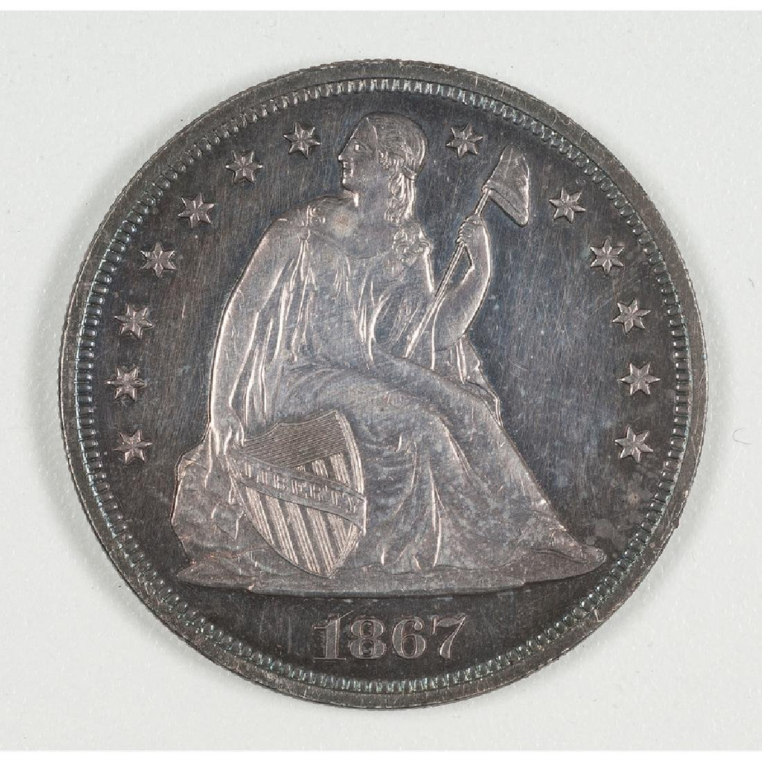 United States Liberty Seated Silver Dollar 1867