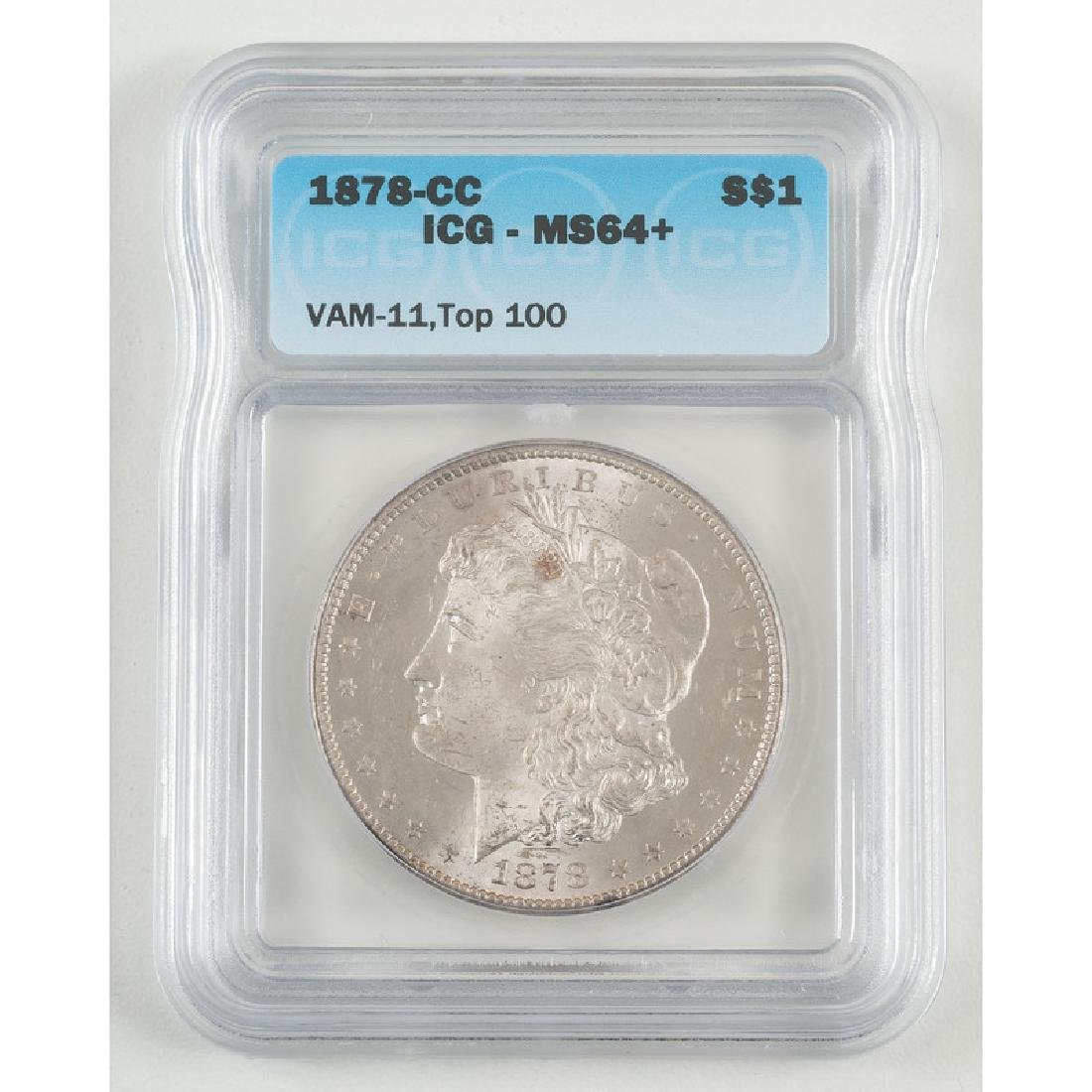 United States Morgan Silver Dollar 1878-CC, ICG MS64+