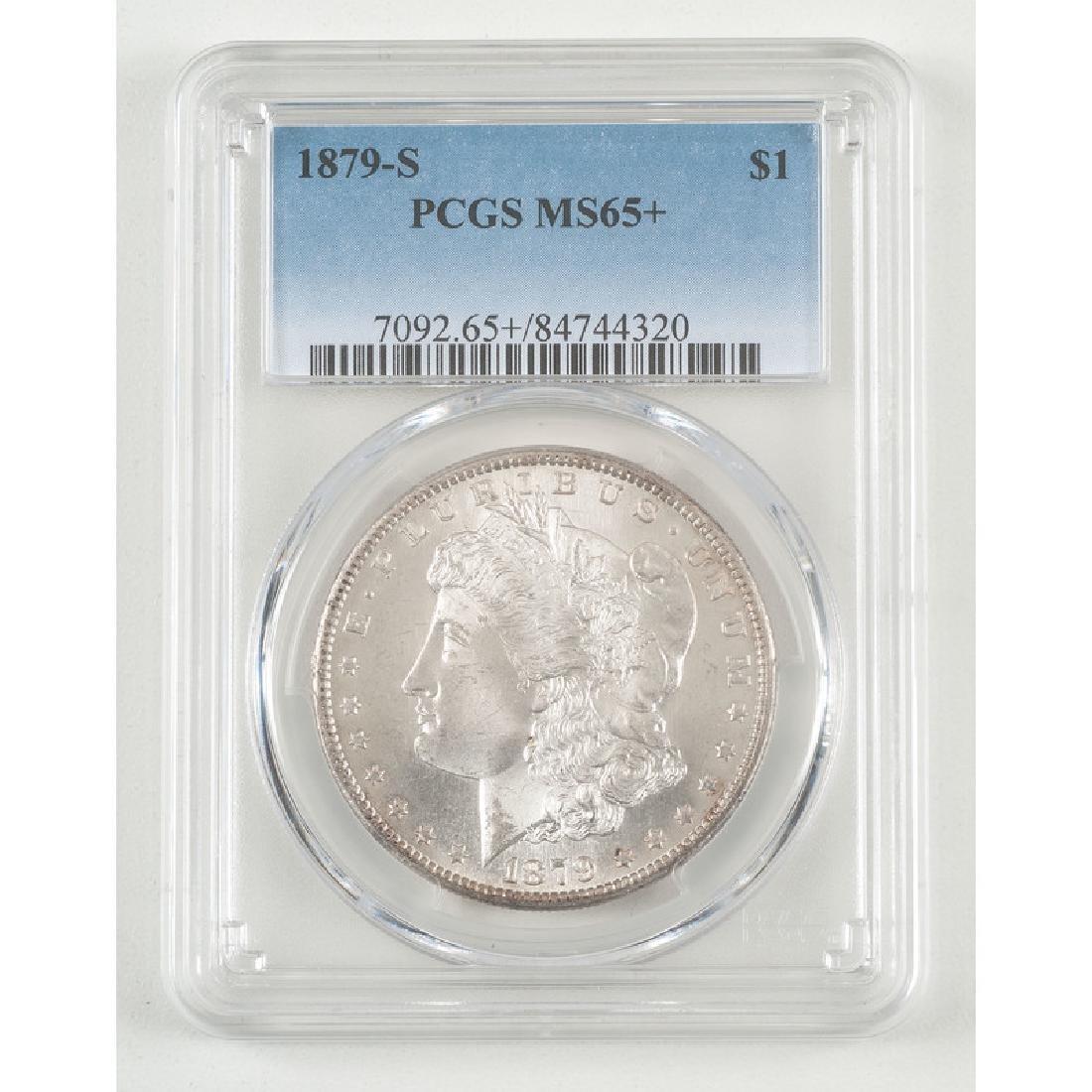 United States Morgan Silver Dollar 1879-S, PCGS MS65+