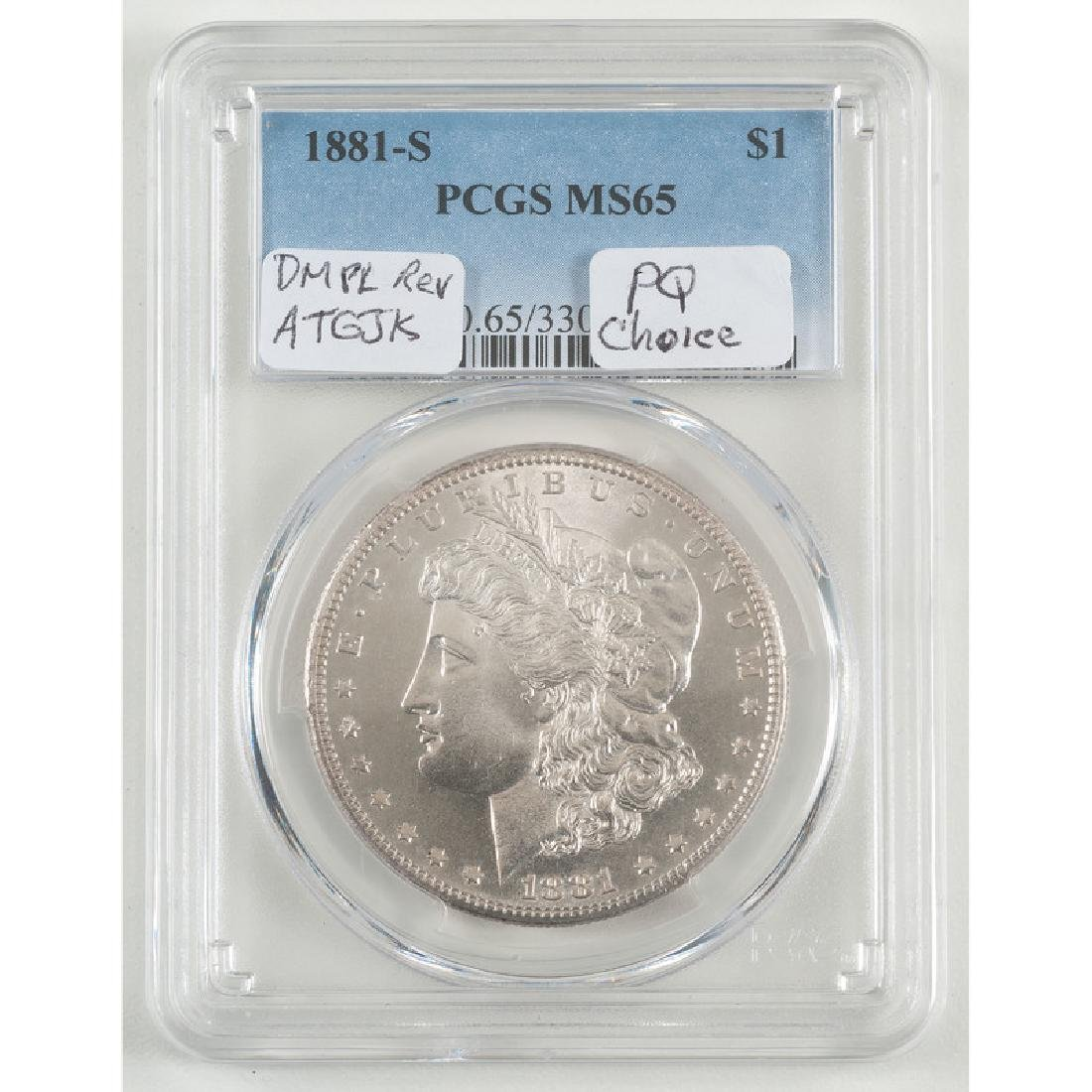 United States Morgan Silver Dollar 1881-S, PCGS MS65