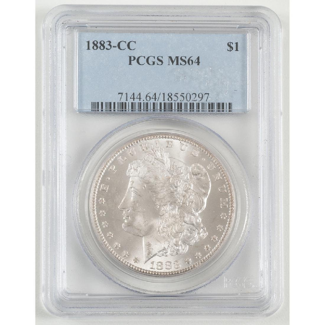 United States Morgan Silver Dollar 1883-CC, PCGS MS64