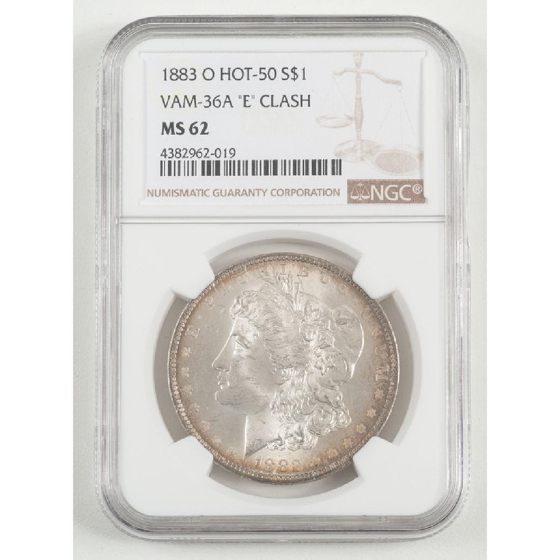United States Morgan Silver Dollar 1883-O, NGC MS62,
