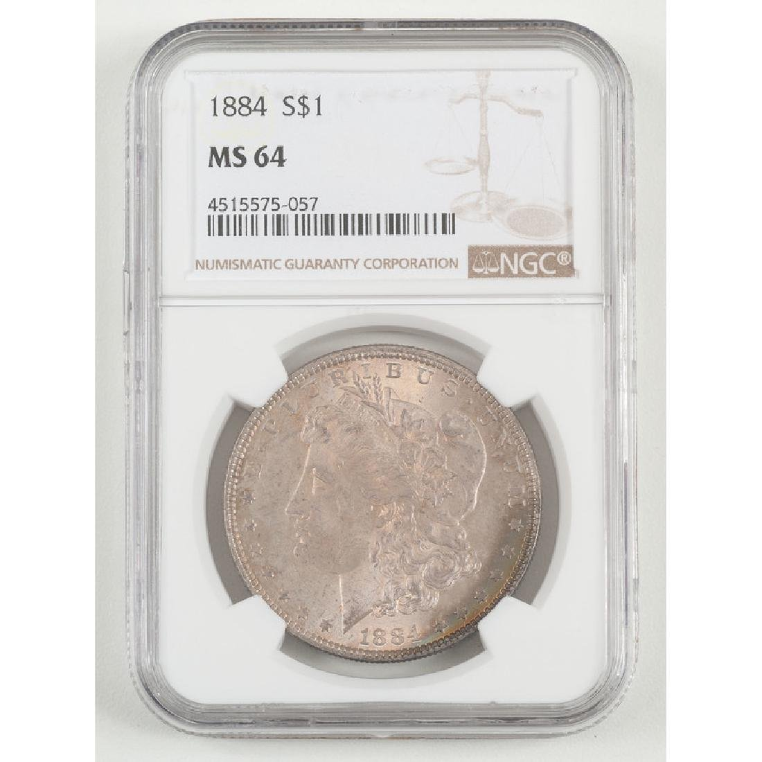 United States Morgan Silver Dollar 1884, NGC MS64