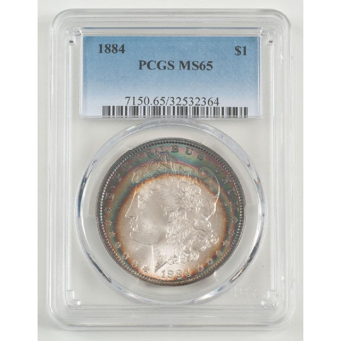United States Morgan Silver Dollar 1884, PCGS MS65