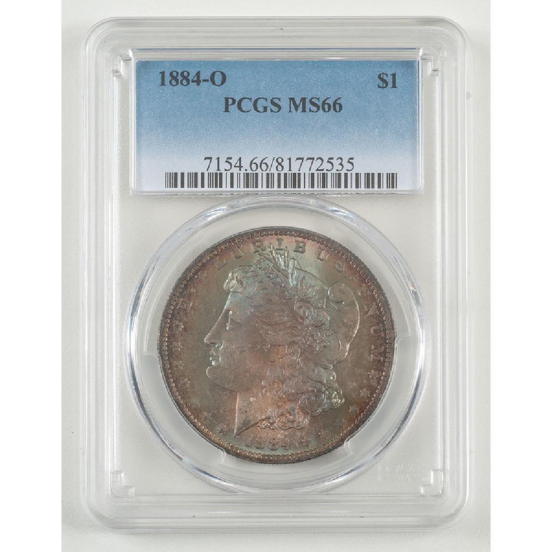 United States Morgan Silver Dollar 1884-O, PCGS MS66