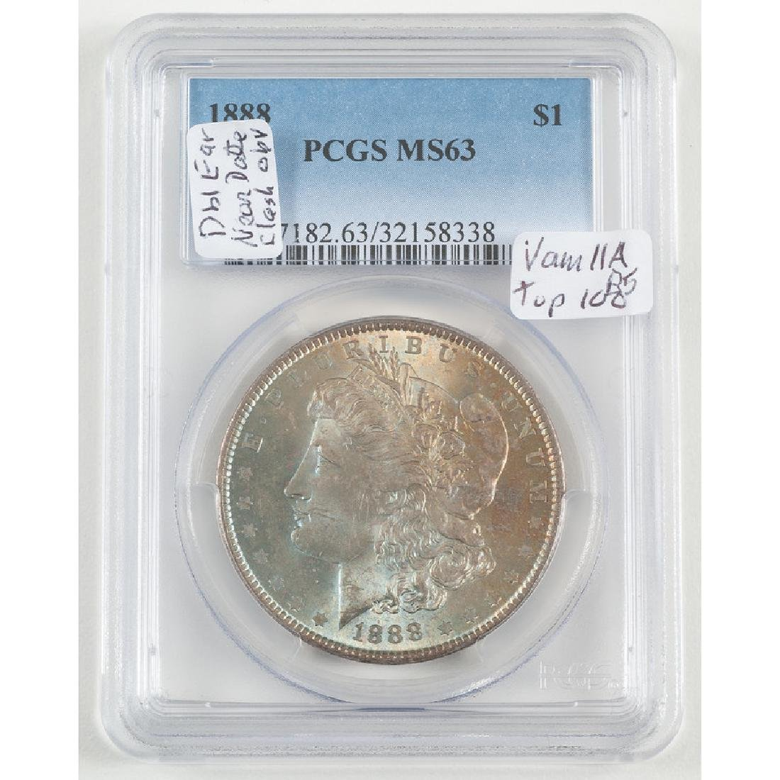 United States Morgan Silver Dollar 1888, PCGS MS63
