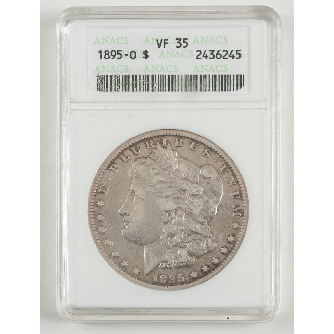 United States Morgan Silver Dollar 1895-O, ANACS VF35