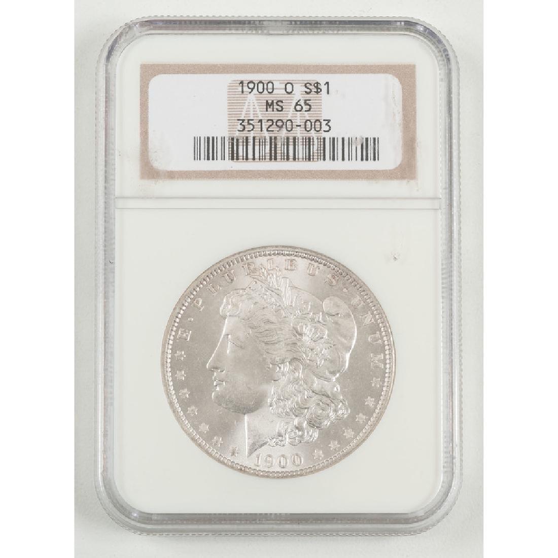 United States Morgan Silver Dollar 1900-O, NGC MS65
