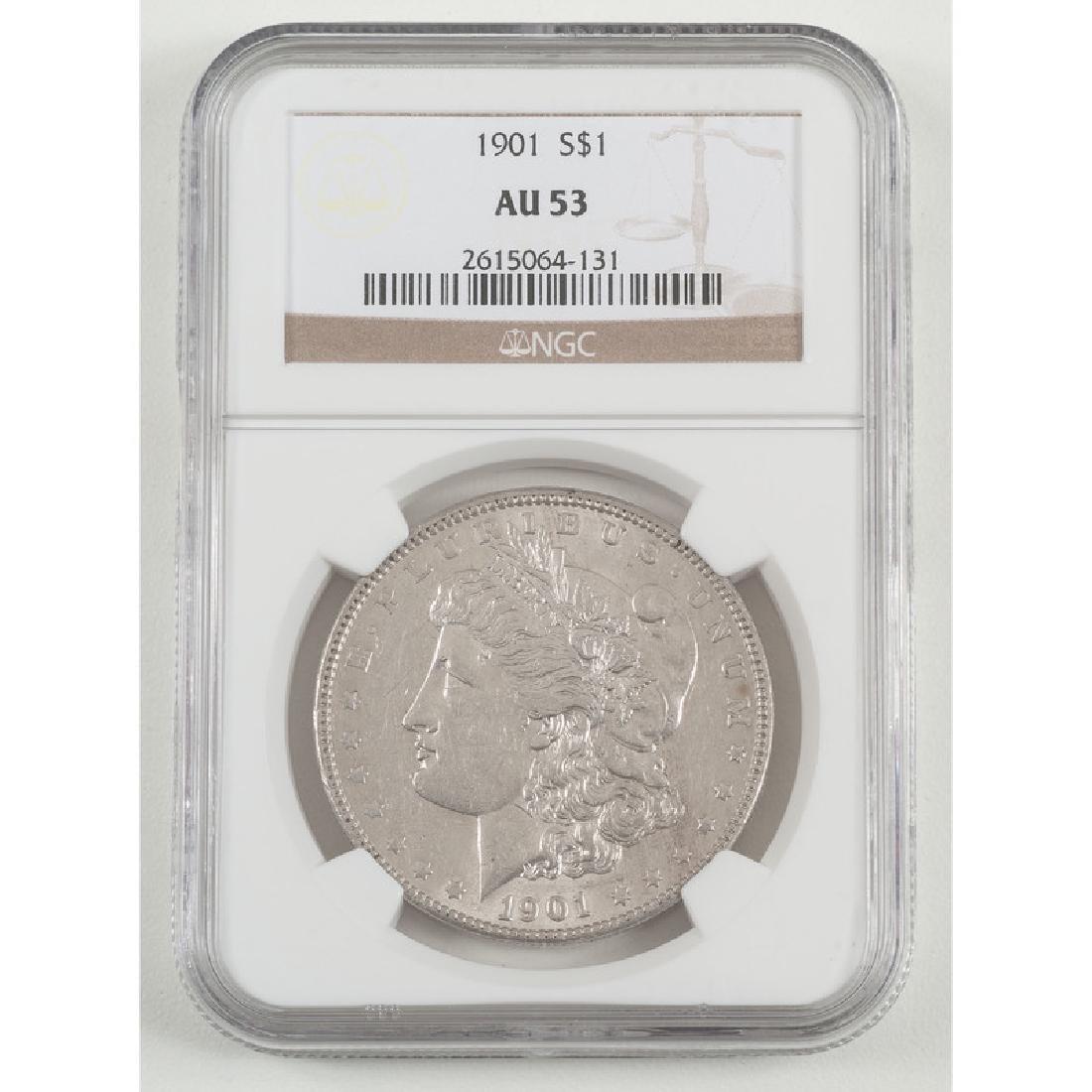 United States Morgan Silver Dollar 1901, NGC AU53