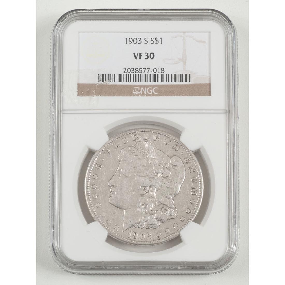 United States Morgan Silver Dollar 1903-S, NGC VF30